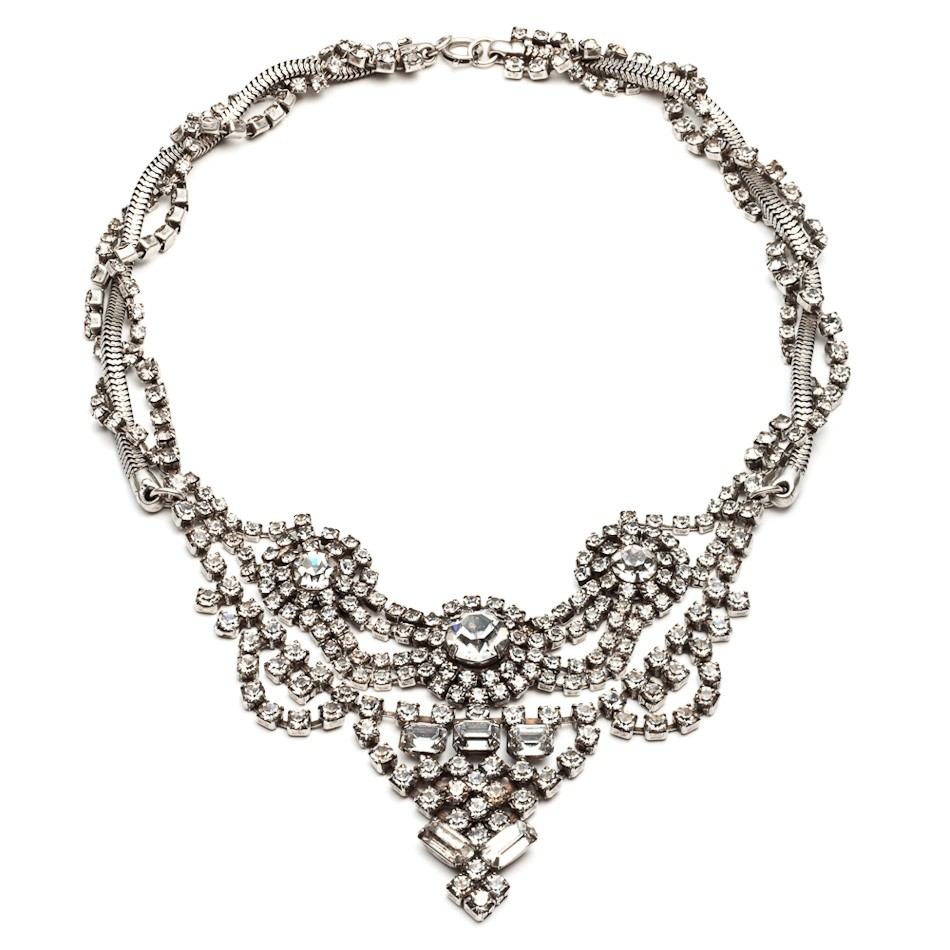 Dannijo Vala Clear Crystal Necklace, $414