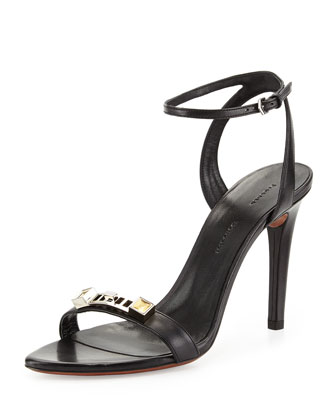 Proenza Schouler PS1 Leather Ankle-Strap Sandal, $ 595.  On sale for $417.