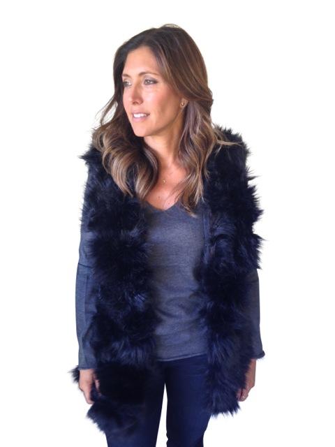 Fur Vest $180  (Available in Black, Beige)