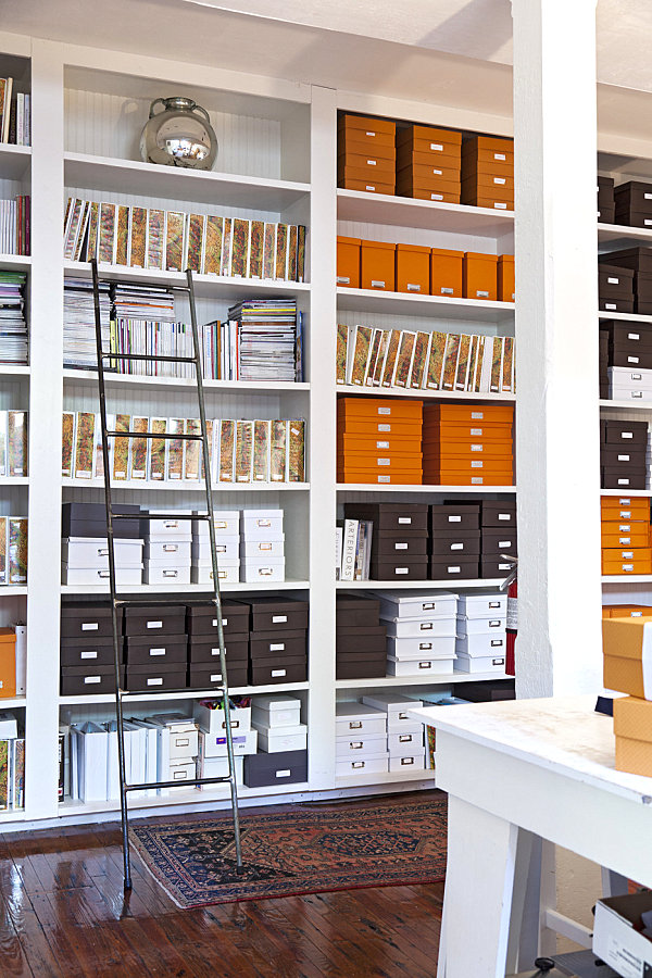Photo:  Offices of Tara Guerard Soiree .  Files and boxes for office from Sam Flax South