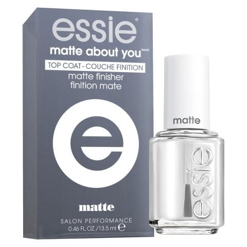 essie Matte About You Top CoatMatte Finisher, $8.50