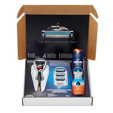 Gillette Shave Club . The Fusion ProGlide with FlexBall Technology (recommended) is available for a suggested retail price of $11.49.