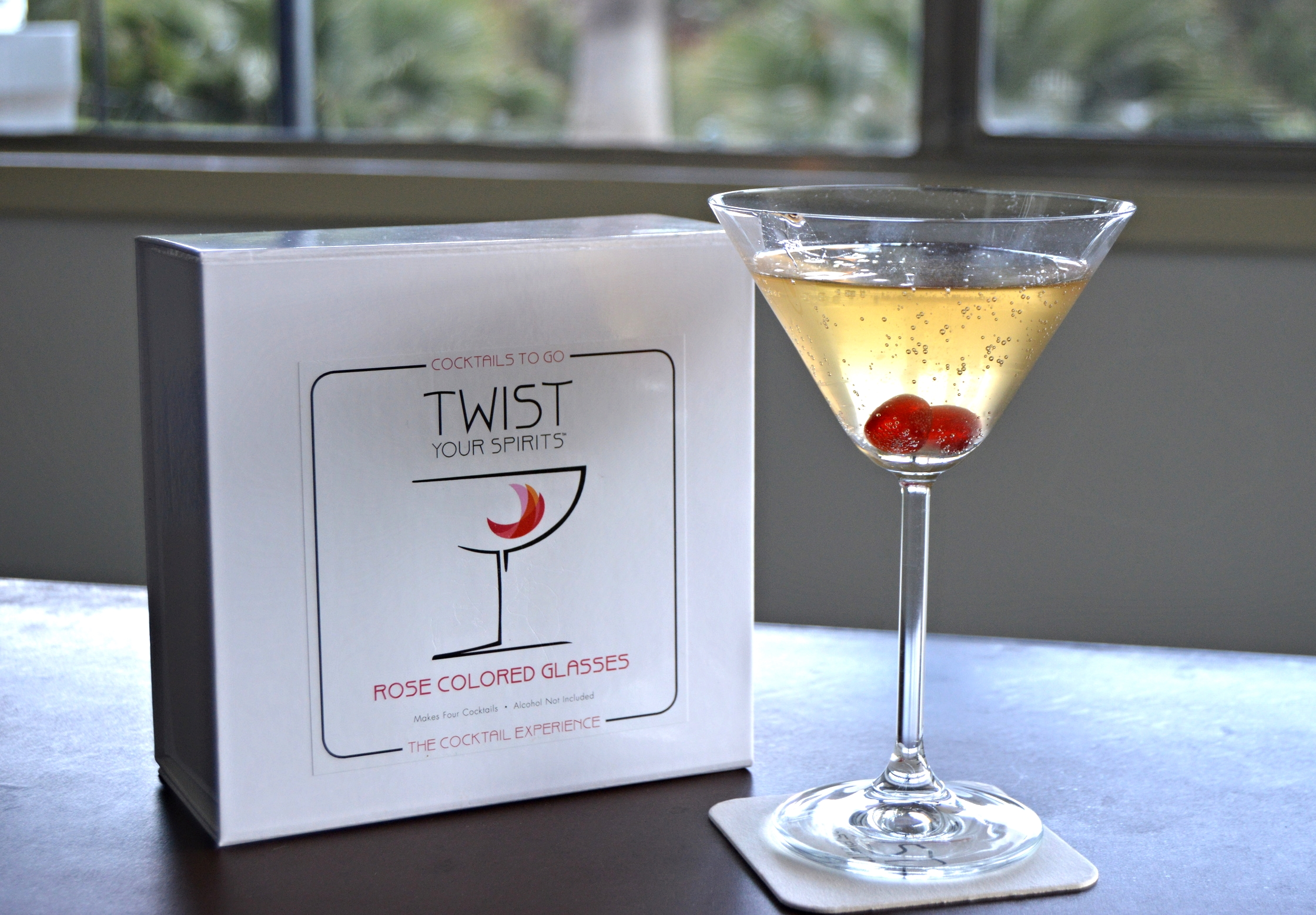 Twist Your Spirits Rose Colored Glasses Cocktail Kit , $30.00