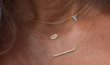 Tulah Jem lips in rose gold shown layered.