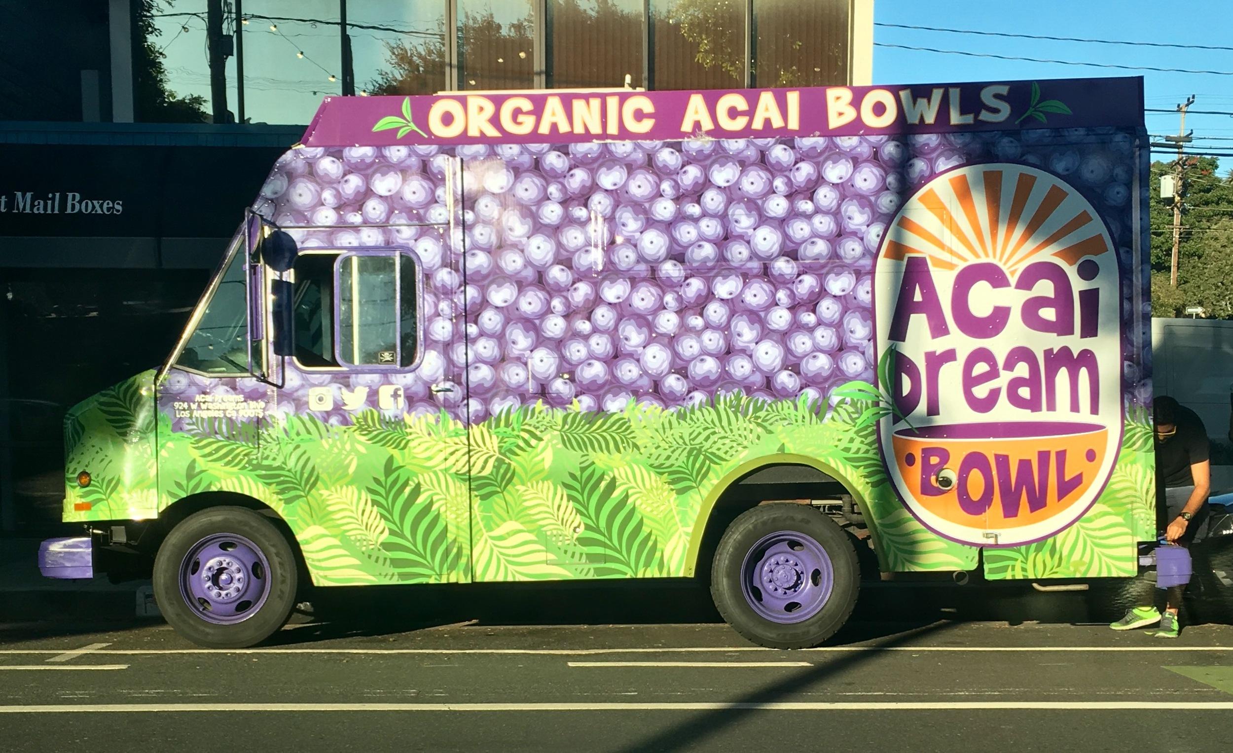 Acai bowl truck seen in Venice, CA.