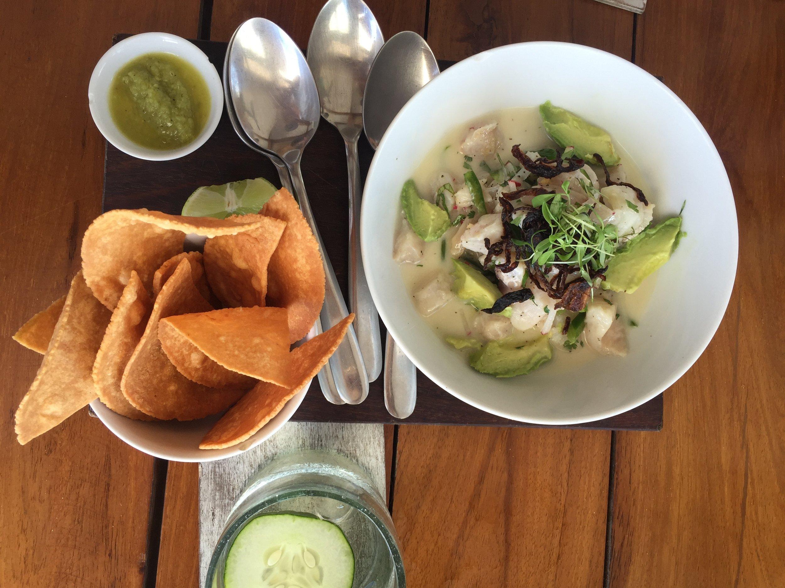 Lunch at the Real Coconut Restaurant, Hotel Sanara Tulum