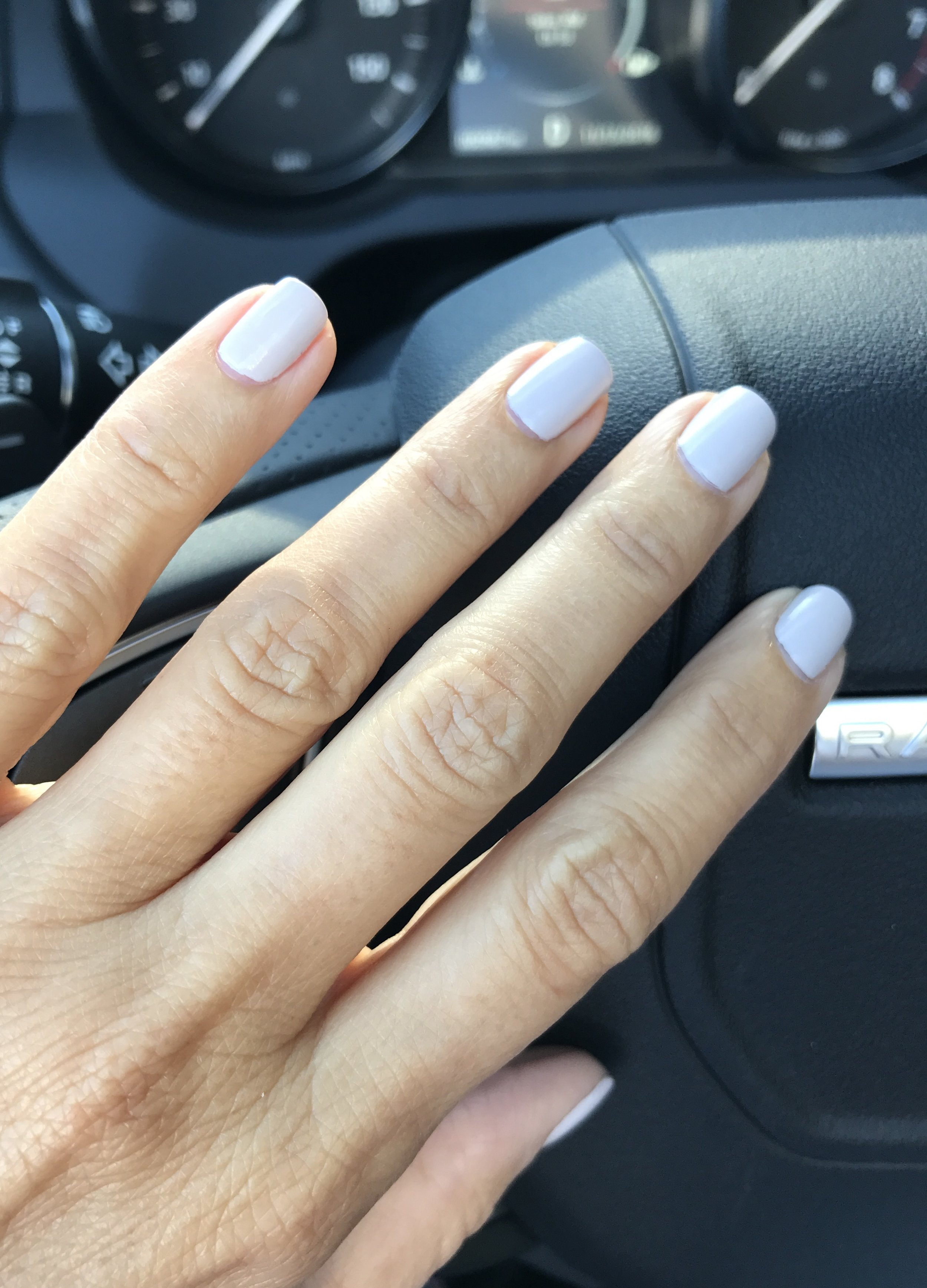 Nail color by LVX in cashmere.