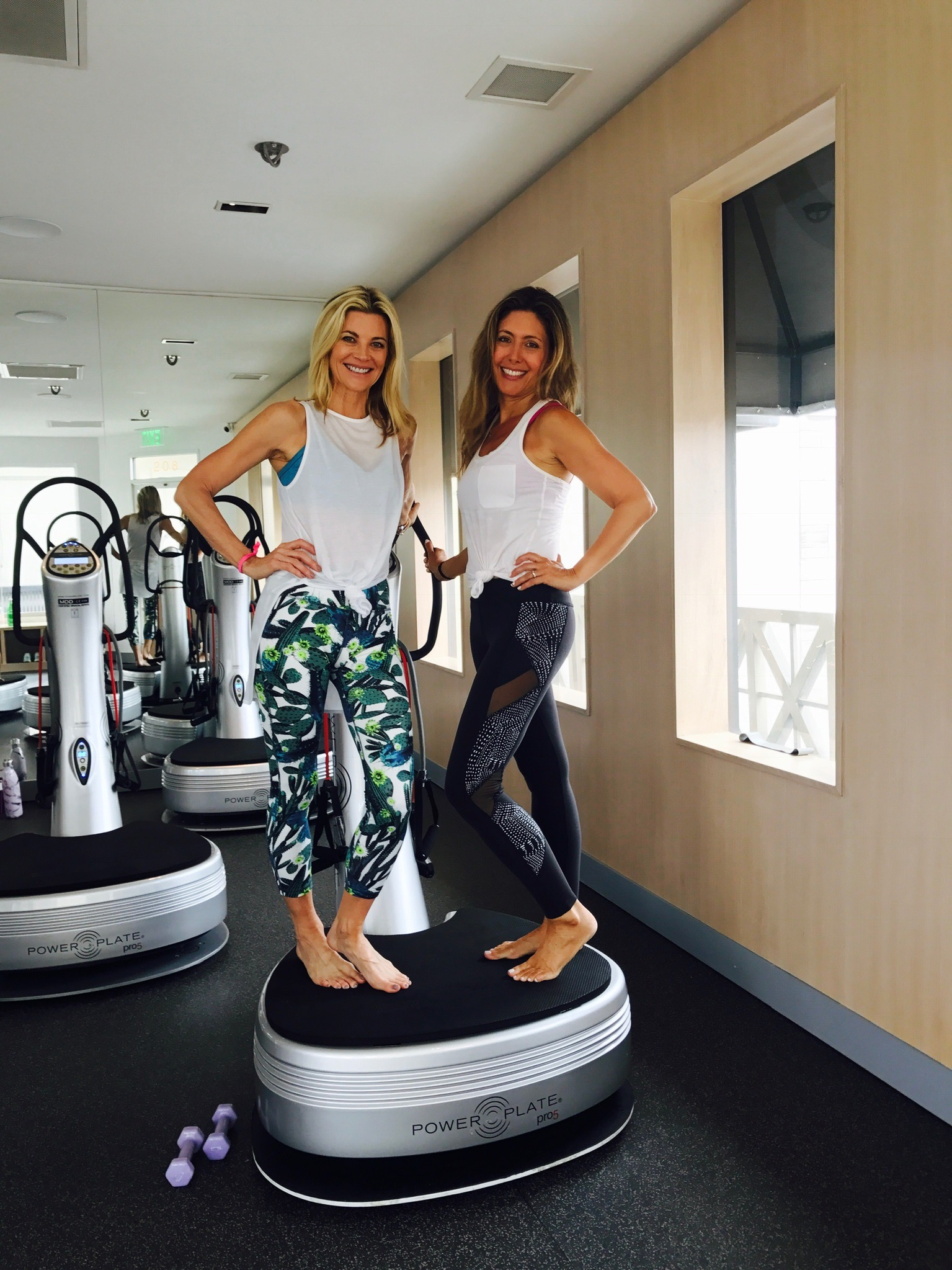 With Lifestyle blogger Janet Gunn of  The Grateful Gardenia . Leggings on Janet from Sweaty Betty (sold out). Similar here: Sweaty Betty . My leggings are from Beyond Yoga (sold out). Similar here: Beyond Yoga .