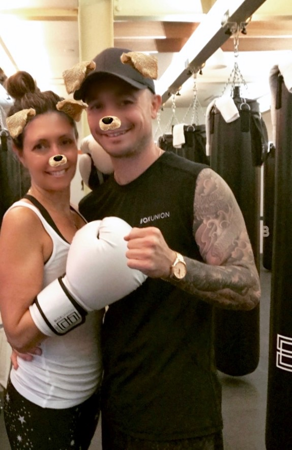 After class with  BoxUnion  instructor Aaron Swenson.