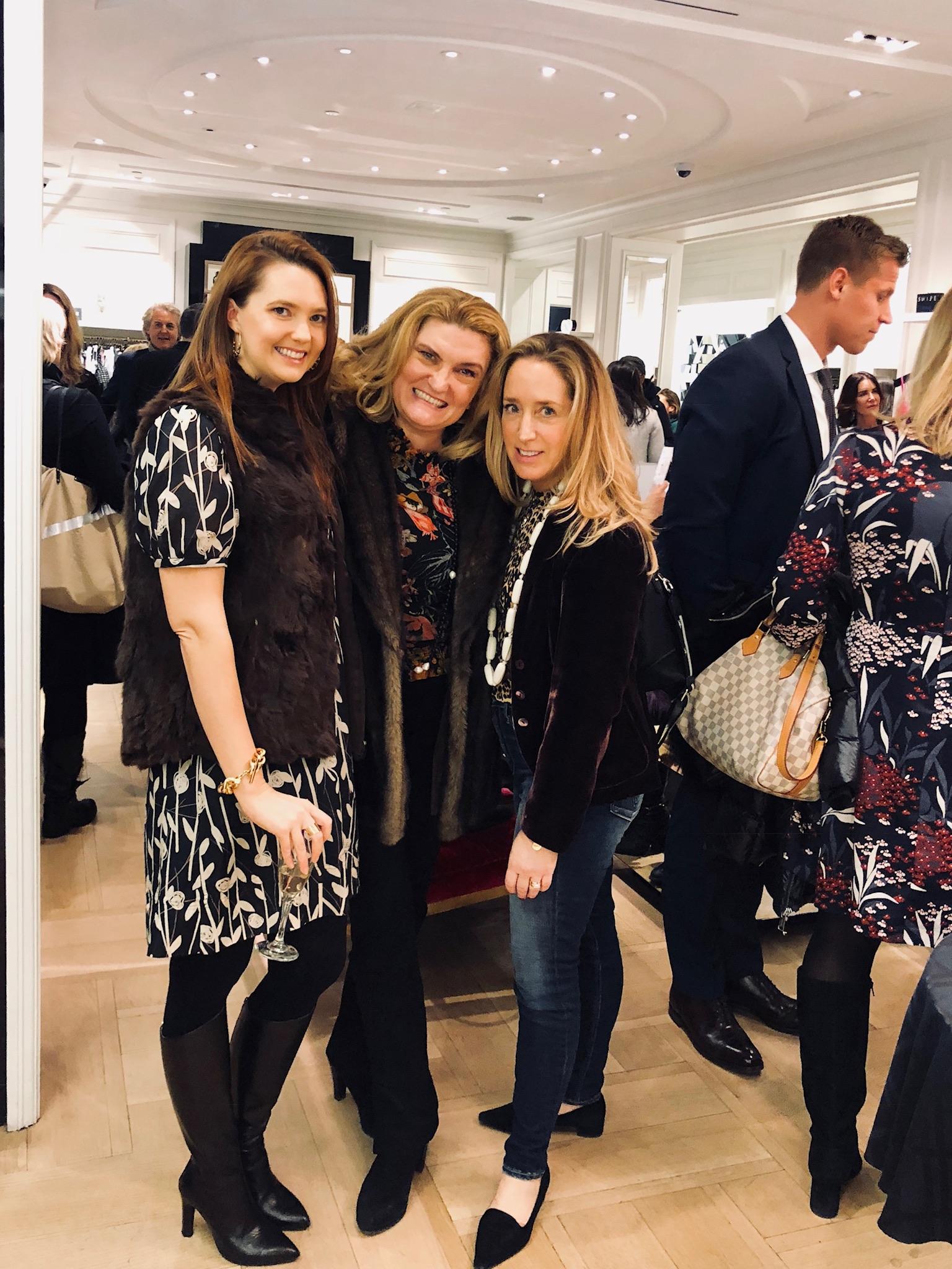Kori Mallett, Melanie Holland, owner of MSH &Partners   Susan Swimmer  , fashion editor