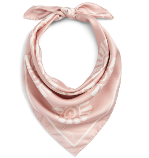 Medallion Print Square Silk Scarf