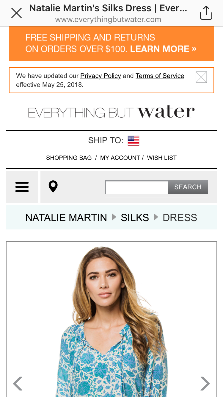 Dress:  Natalie Martin