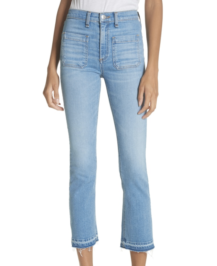 Veronica Beard Crop Boot Jeans