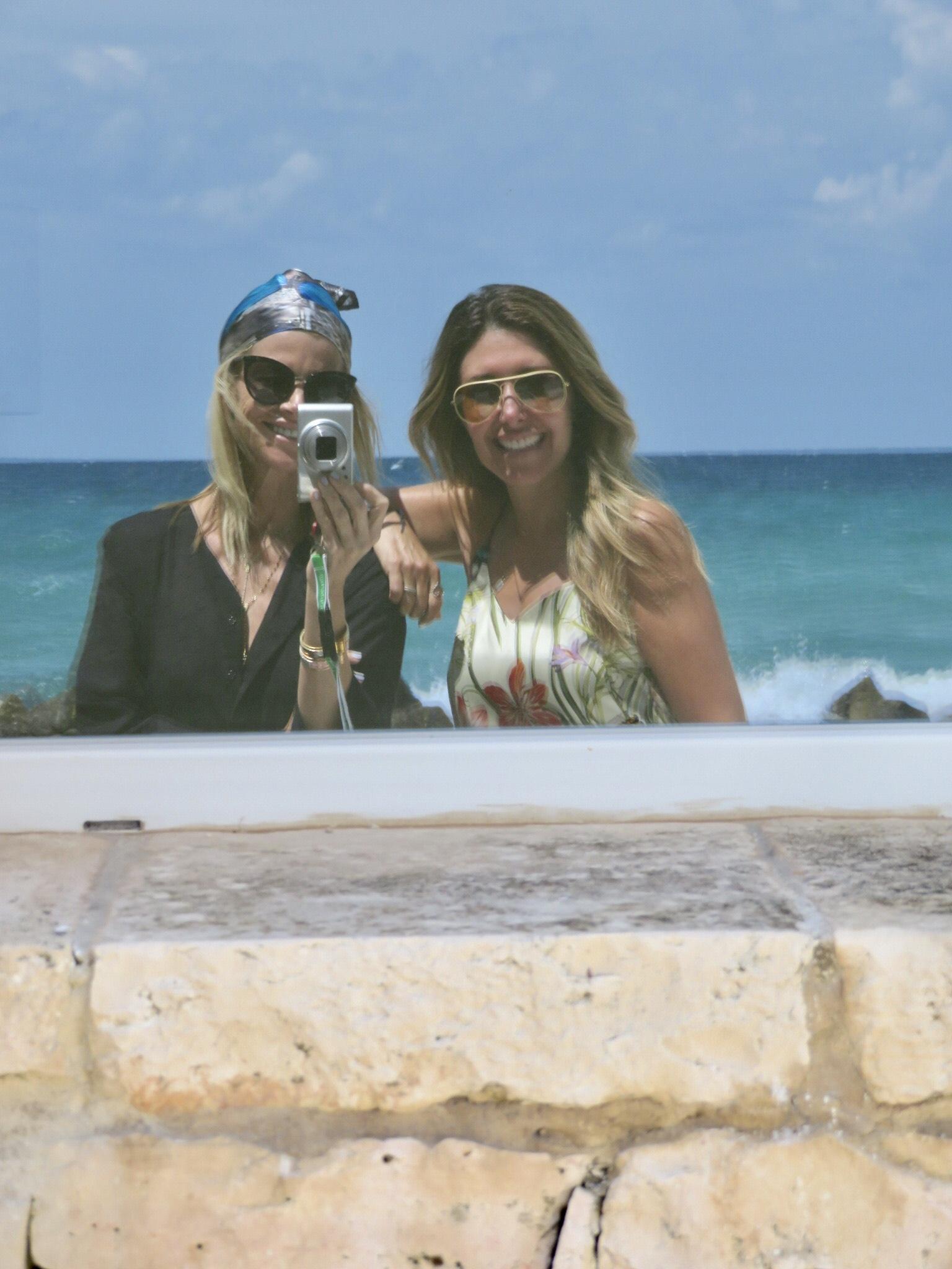 With blogging partner  Janet Gunn, The Grateful Gardenia  at La Peschiera Hotel in Puglia.