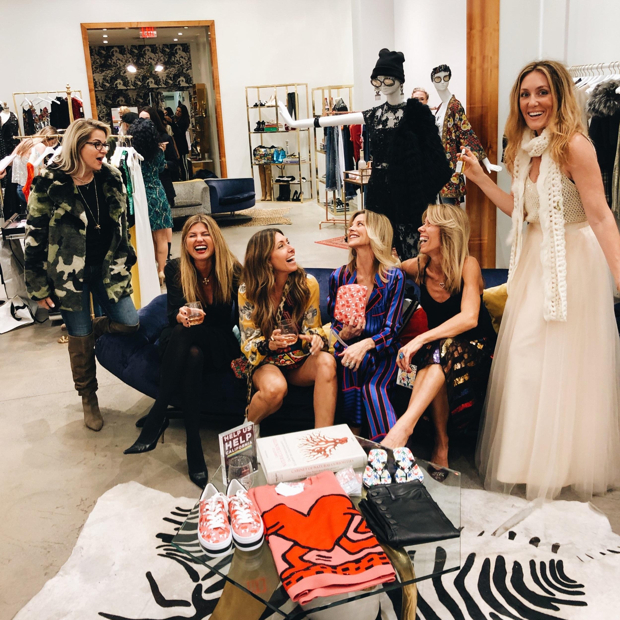 Photo at Alice+ Olivia: Cathy Moretti, Alexandra Musco, mua, Janet Gunn, Kirschen Katz, Naomi Klein