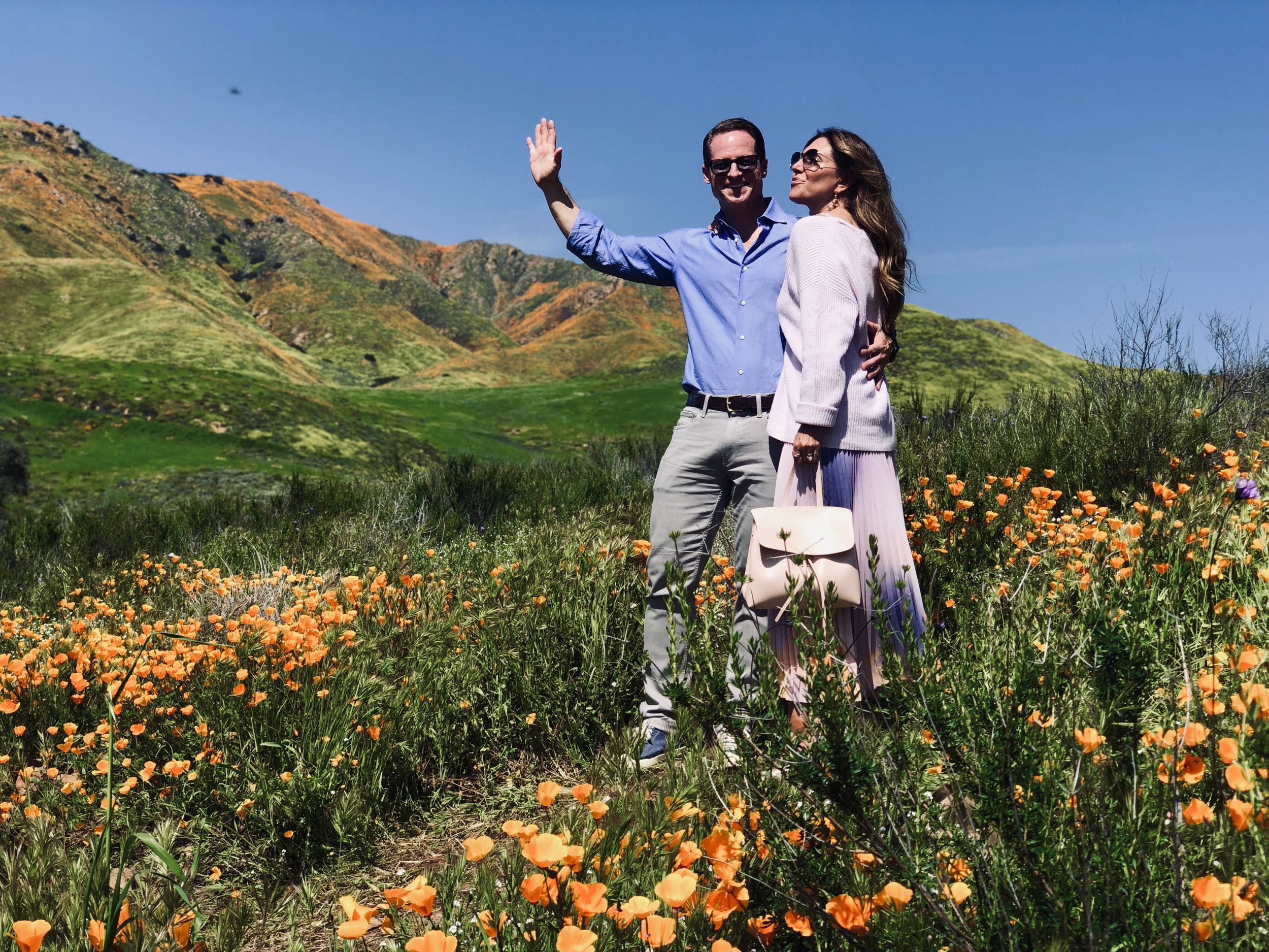 Enjoying the Super Bloom with by blogging photographer hubby Michael Meyers!