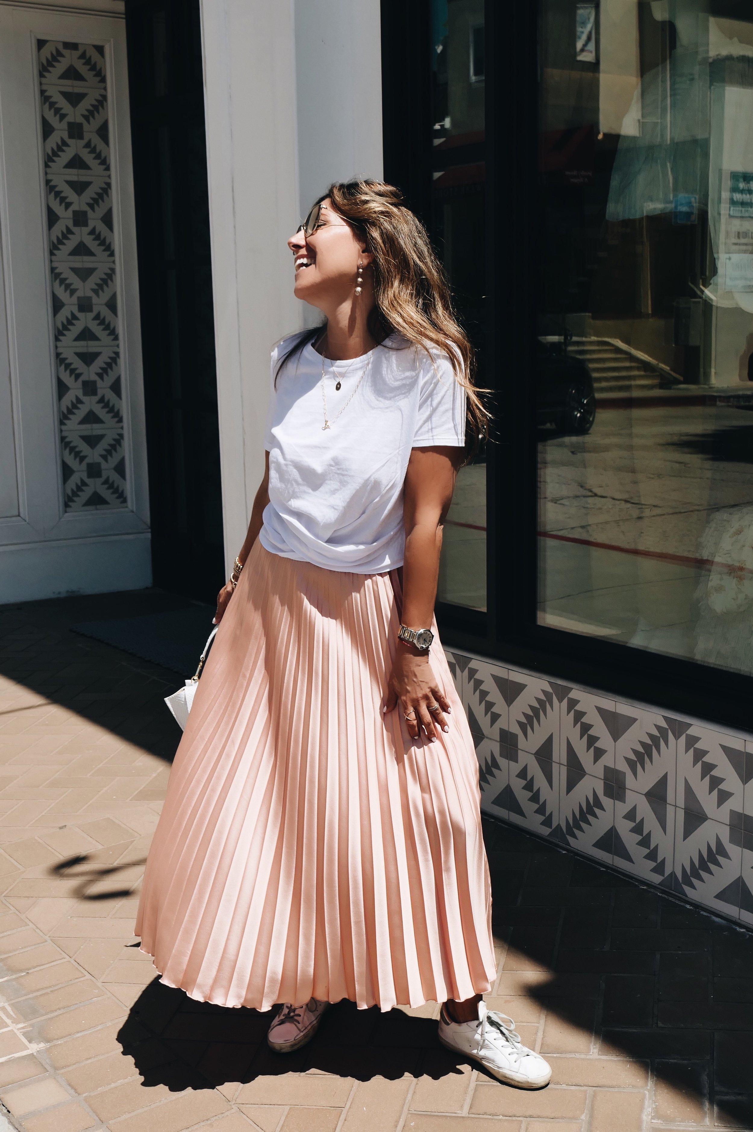 MM_ZARA Pink Skirt and Wrap Tee 001.JPG