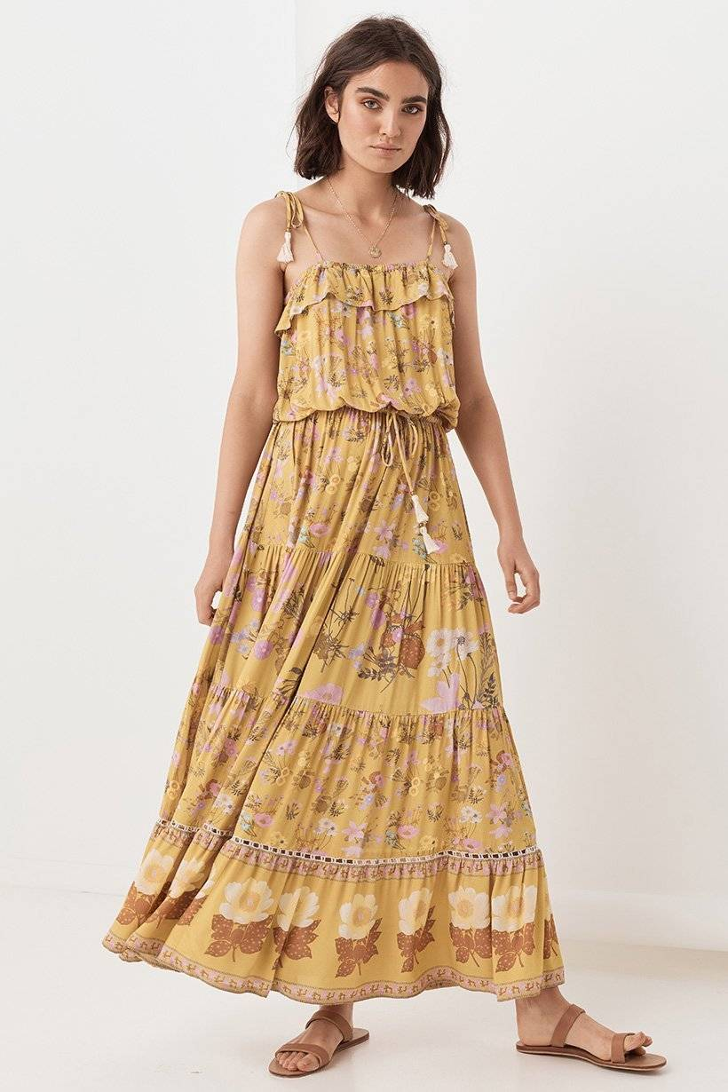 Spell & the Gypsy  Wild Bloom Strappy Dress ($229)