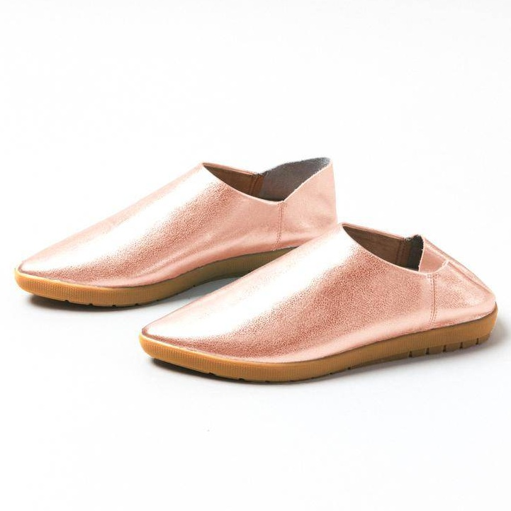 Vision Quest Rose Gold Babouches ($179). Use   glowgirl10   for a 10% discount!
