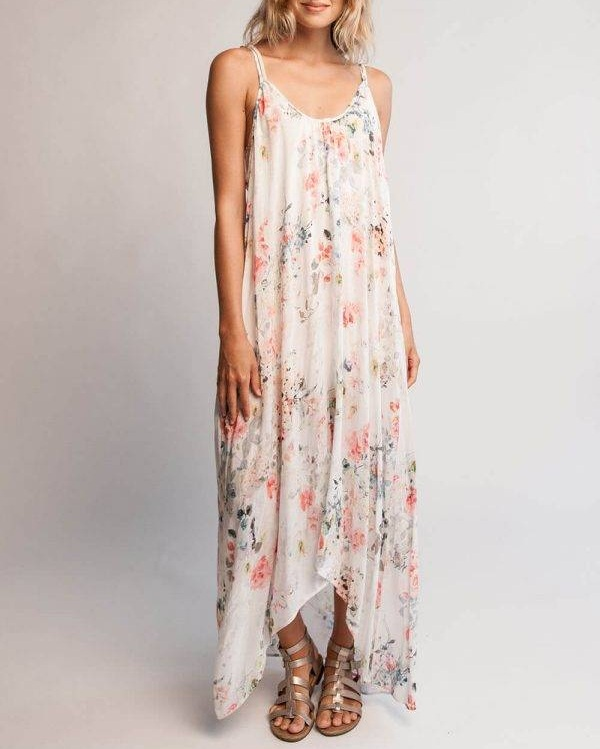 Nudz Floral-Print Maxi Dress ($178)