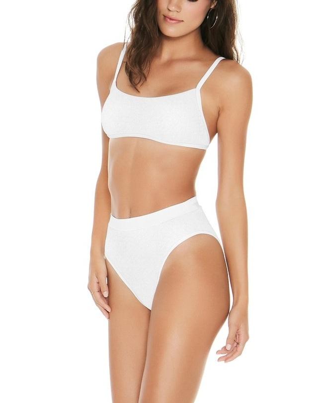 L*Space Ribbed Gemma Bikini Top ($92)