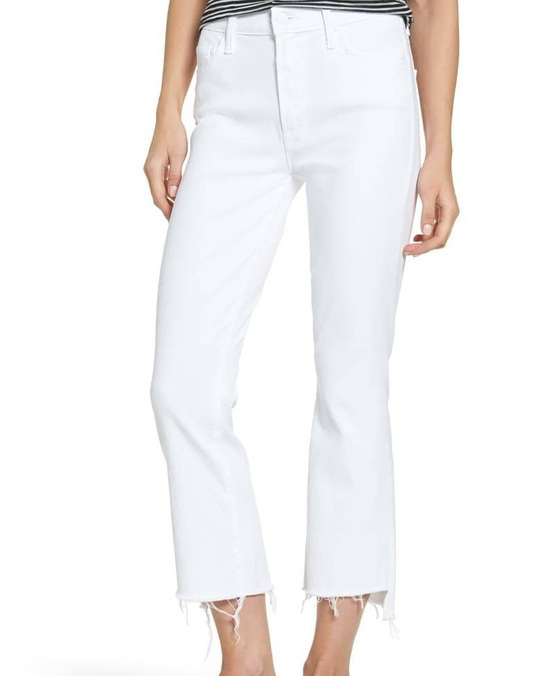 Mother, The Insider Step Hem Crop Bootcut Jeans ($205)