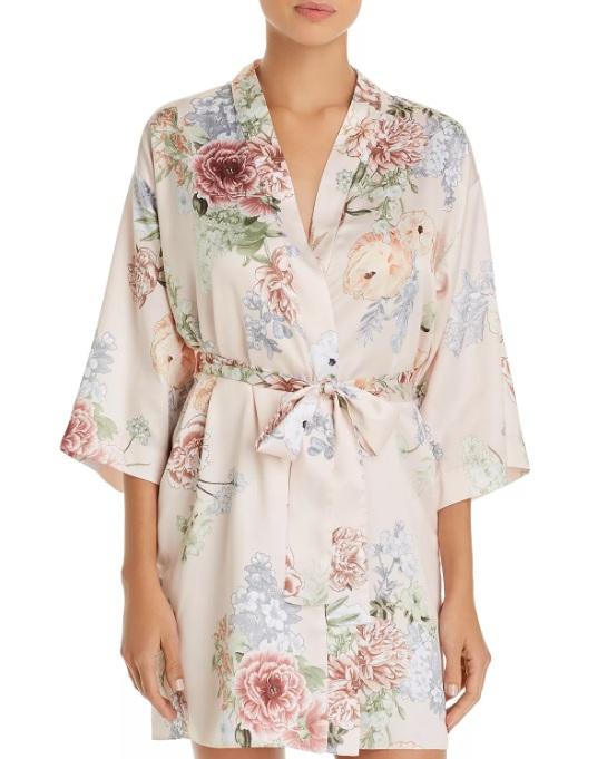 Flora Nikrooz Arisa Floral Print Satin Robe