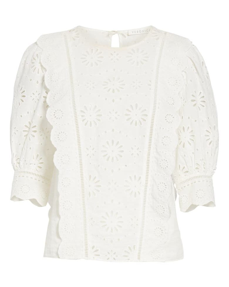 Veronica Beard Gale Eyelet Blouse