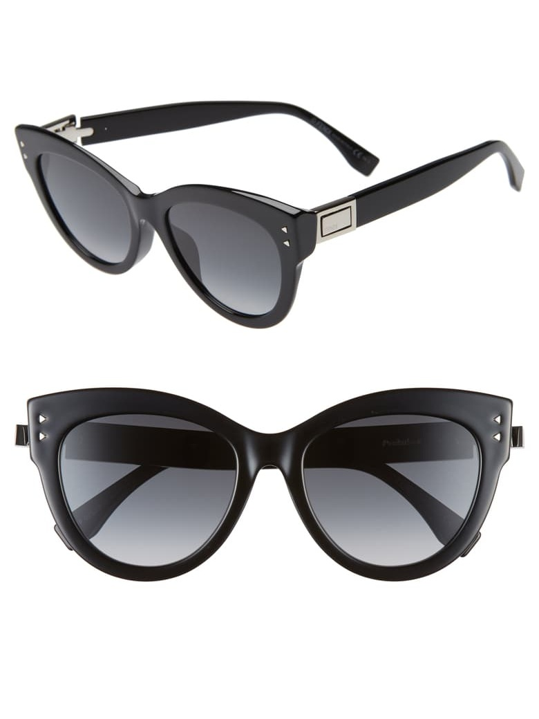 Fendi 54mm Special Fit Gradient Cat Eye Sunglasses