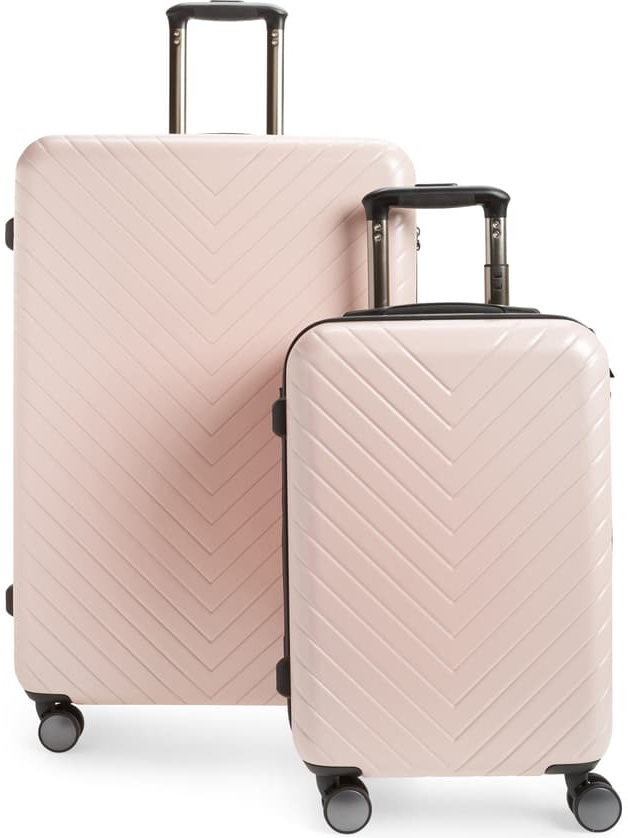 Nordstrom Chevron 29-Inch & 18-Inch Spinner Luggage Set
