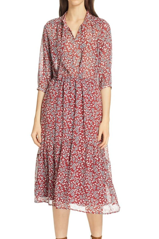 BA&SH Bonnie Midi Dress