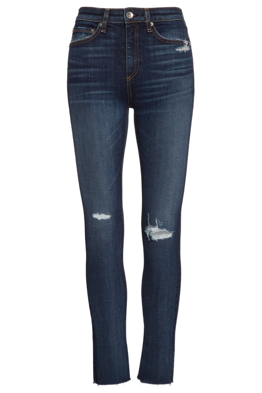 Rag & Bone Nina High Waist Ankle Skinny Jeans