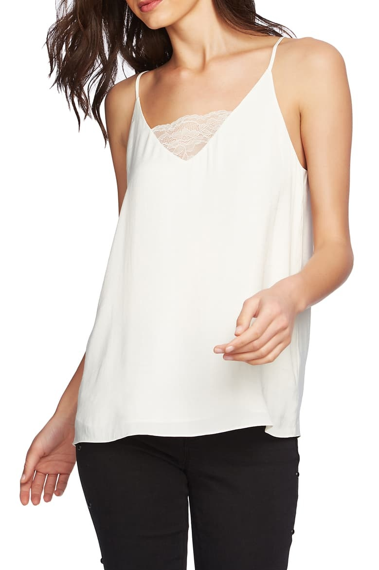 1.STATE Lace Inset Camisole