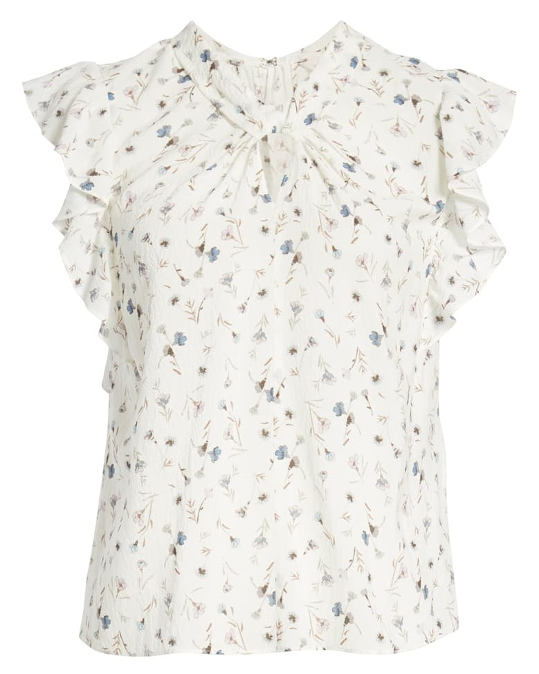 Rebecca Taylor Adelaide Floral Silk Top