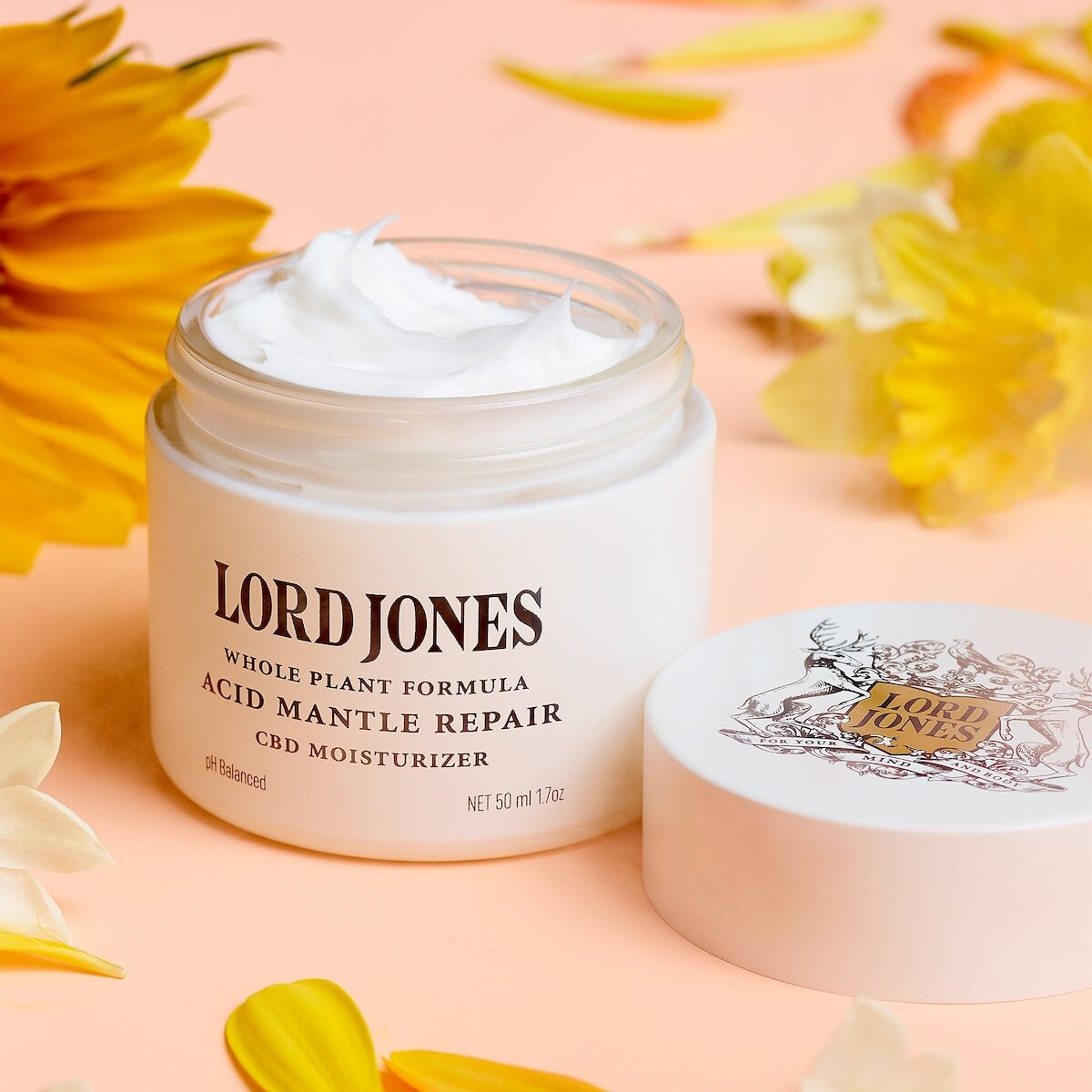 Lord Jones Acid Mantle Repair Moisturizer  - A soothing moisturizer packed with 250mg of CBD, ceramides and hyaluronic acid designed to replenish the skin's moisture barrier.