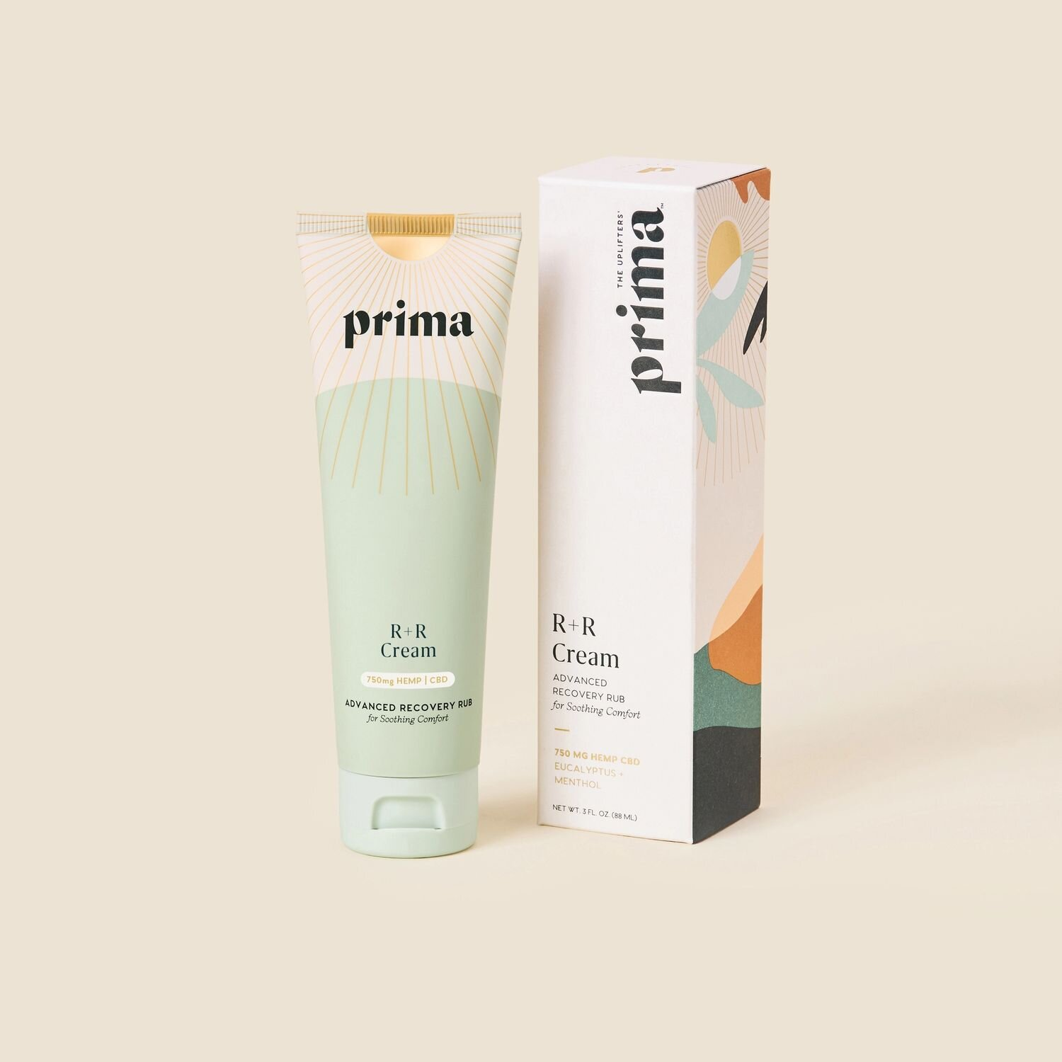 Prima R & R Advanced Recovery Cream  - A whole plant hemp extract with naturally occurring CBD and a soothing botanical blend to encourage whole-body recovery.  Use code GLOWGIRL for 20% off.