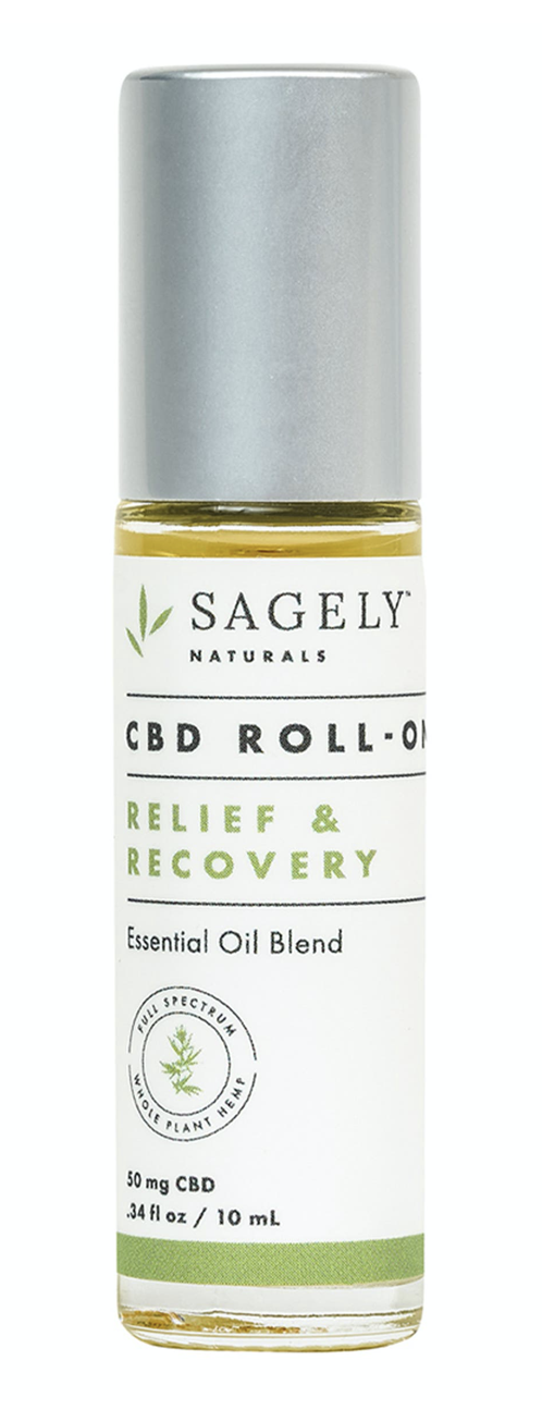 Sagely Naturals Calm Relief And Recovery CBD Roll-On  - A roll-on essential oil blend packed with CBD.