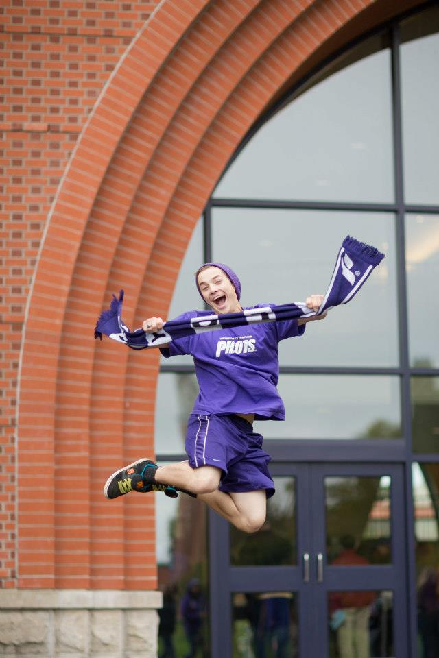 Our students really got into it. Purple hat. Purple shirt. Purple shorts. PURPLE WIN!