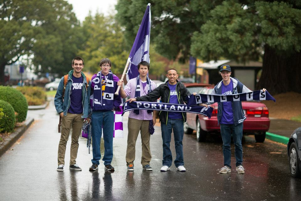 Once we saw this group of guys wearing purple and waving a giant flag, we knew we had a hit on our hands.