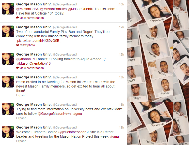 Tweets from this week's voice of @GeorgeMasonU, Elizabeth Bodine.