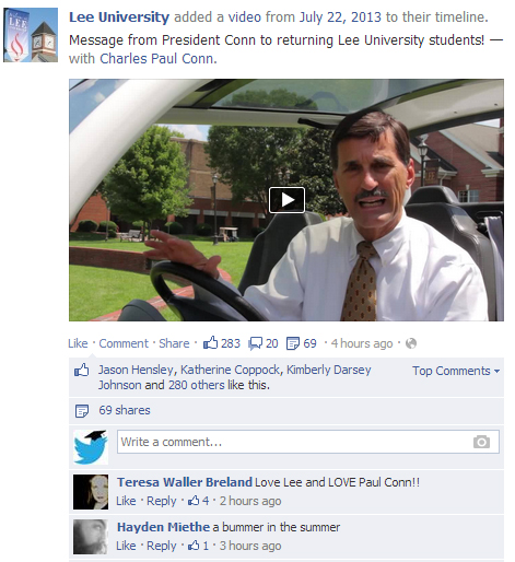 I couldn't embed a Facebook video - click on the photo and the video will pop up!