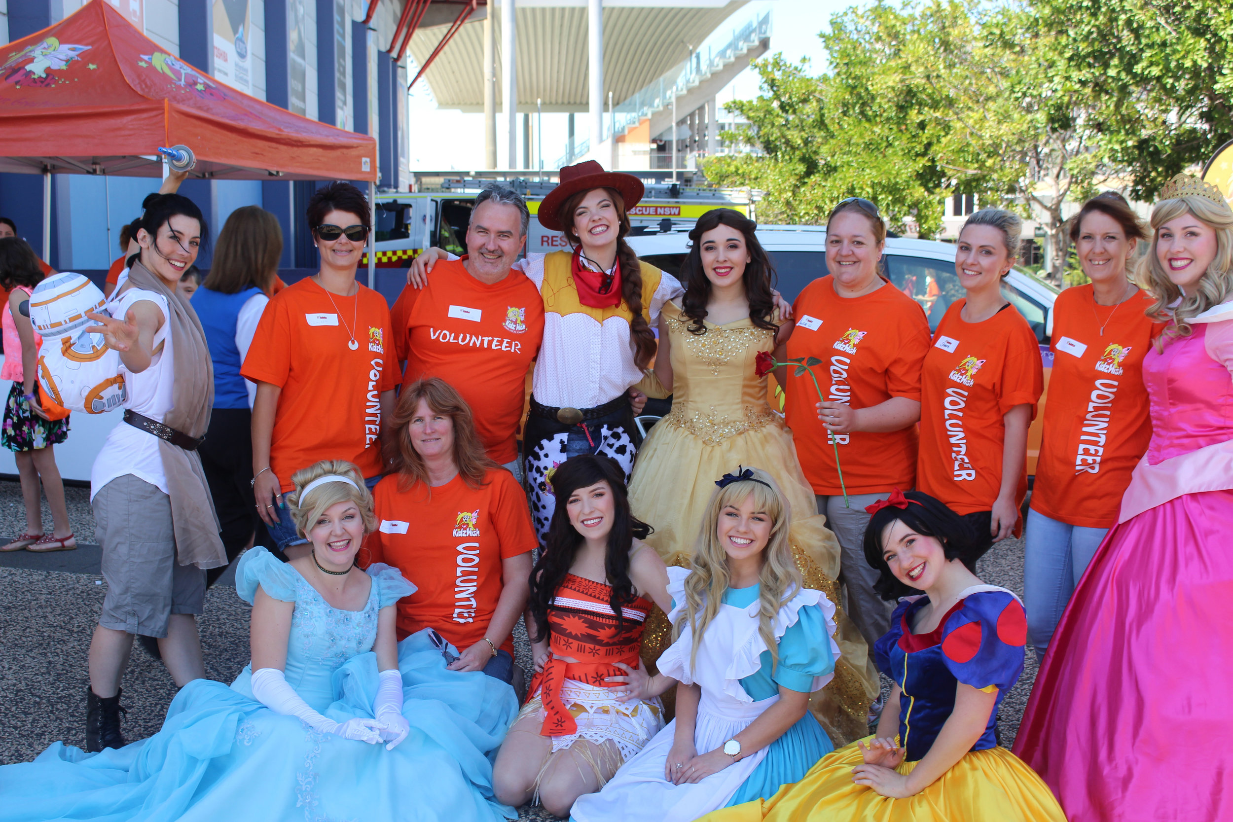 Kidzwish Princesses at the Kidzwish Christmas Party