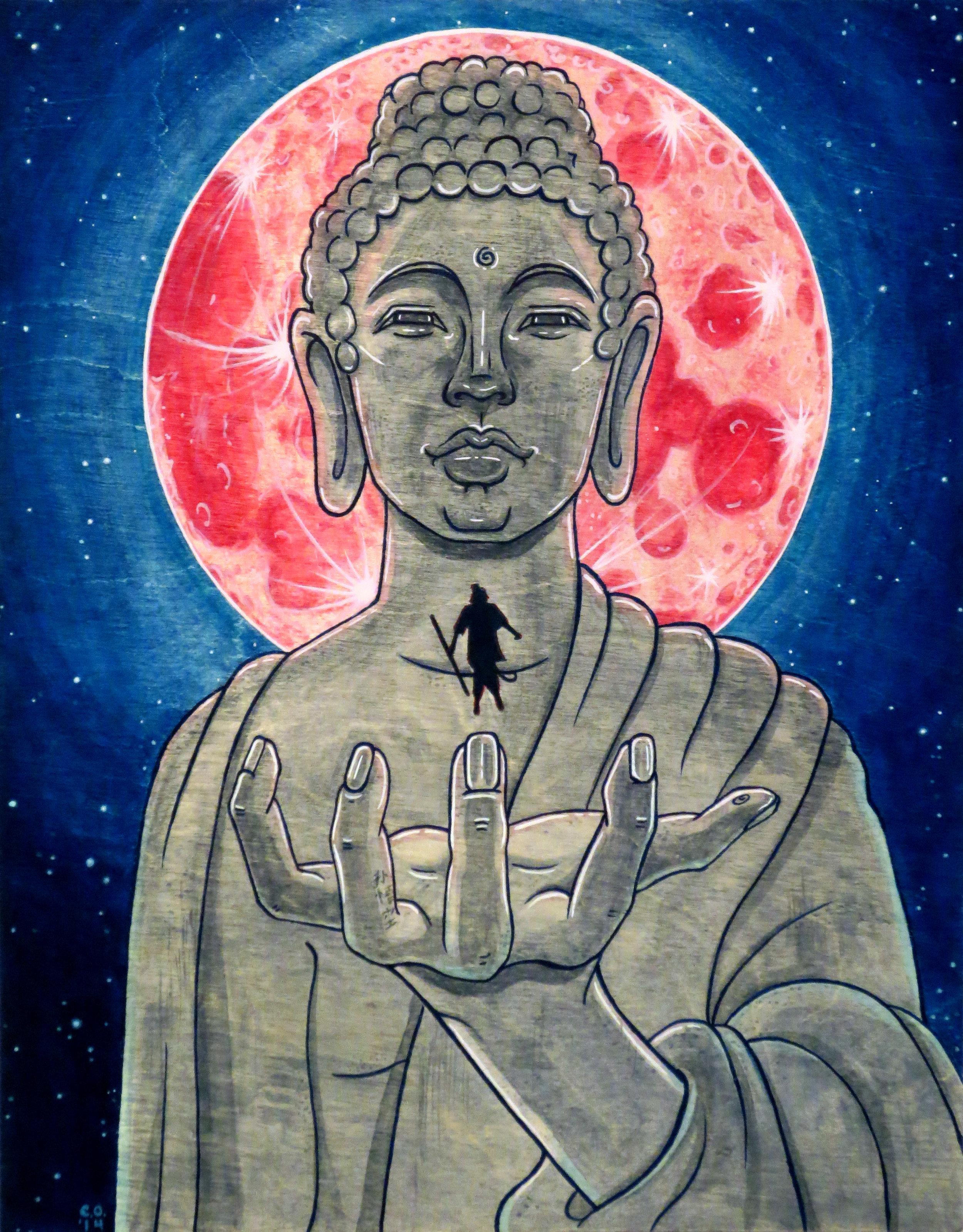 Buddha and Monkey, 2014 Christina Oliva