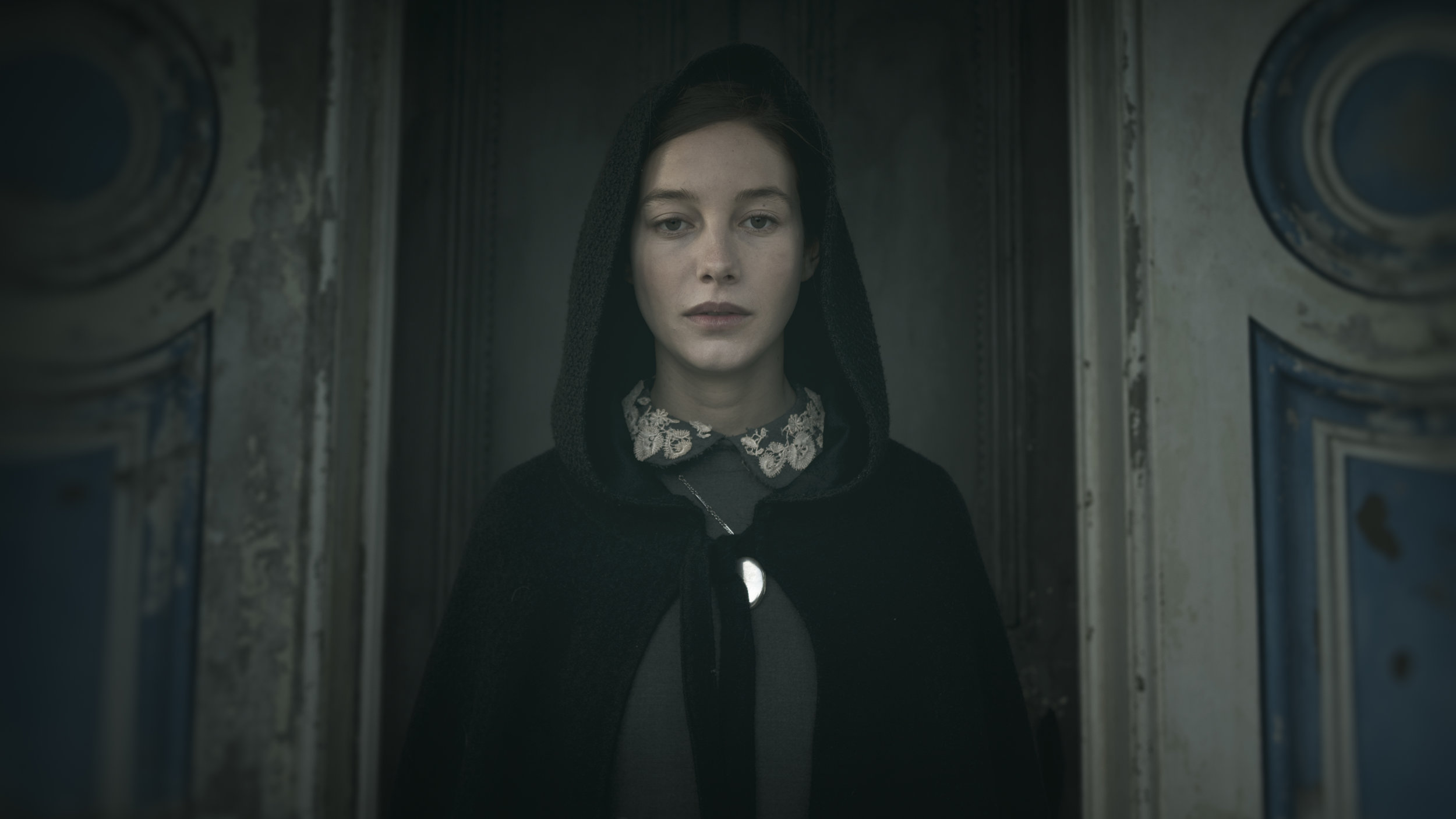 """Charlotte Vega as Rachel in the gothic horror film  """"THE LODGERS.""""  Photo courtesy of Martin Maguire."""