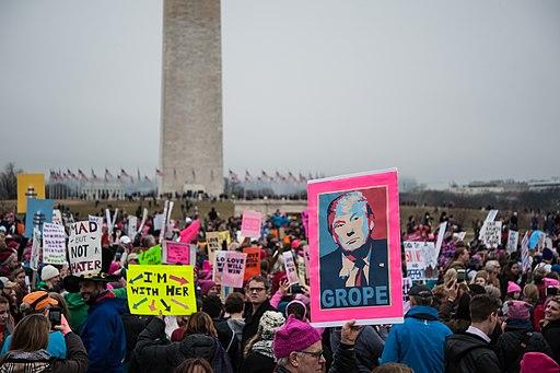 Demonstrators during the Women's March on Washington - Rosa Pineda