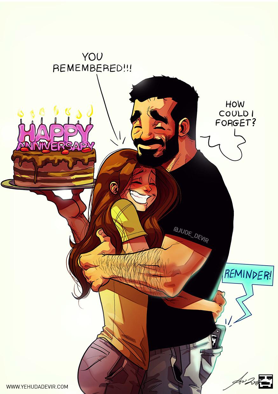 Happy Anniversary My Love Illustration: Yehuda Devir
