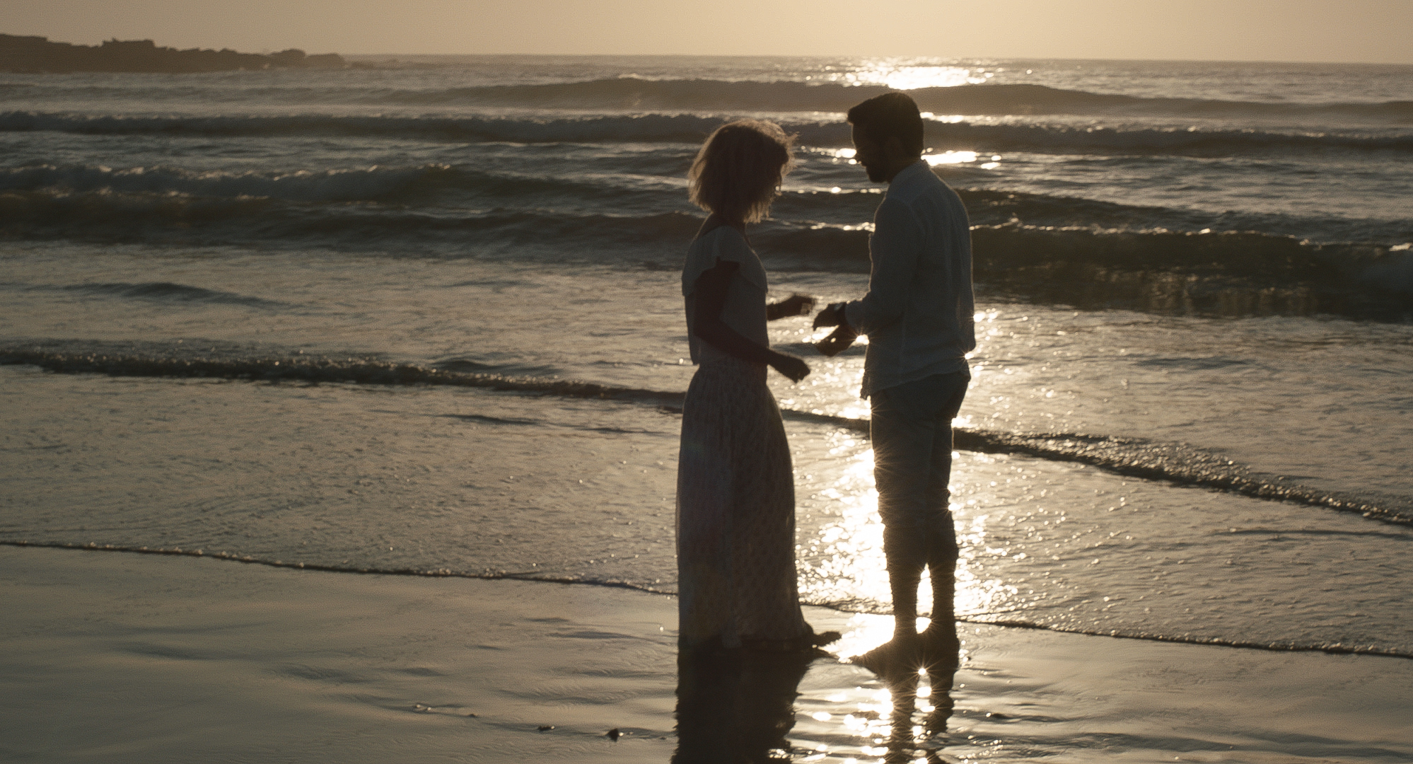 movie still - Zelos characters Sarah and Bernard ( Shannon Ashlyn  and  Ben Mortley )