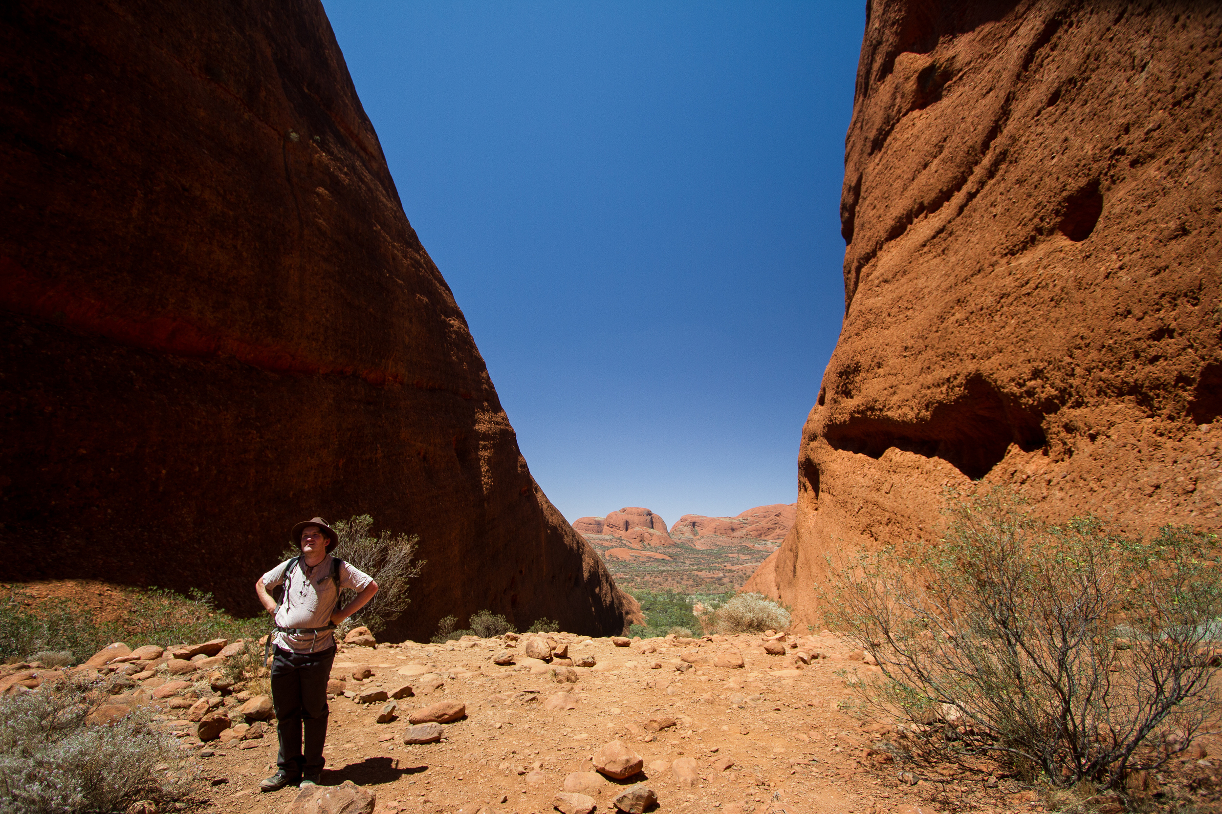 Mitch doing his (excellent) tourist impression. Uluru-Kata Tjuta National Park, Northern Territory, 2012. Photo by Angus Kennedy. From  this post .