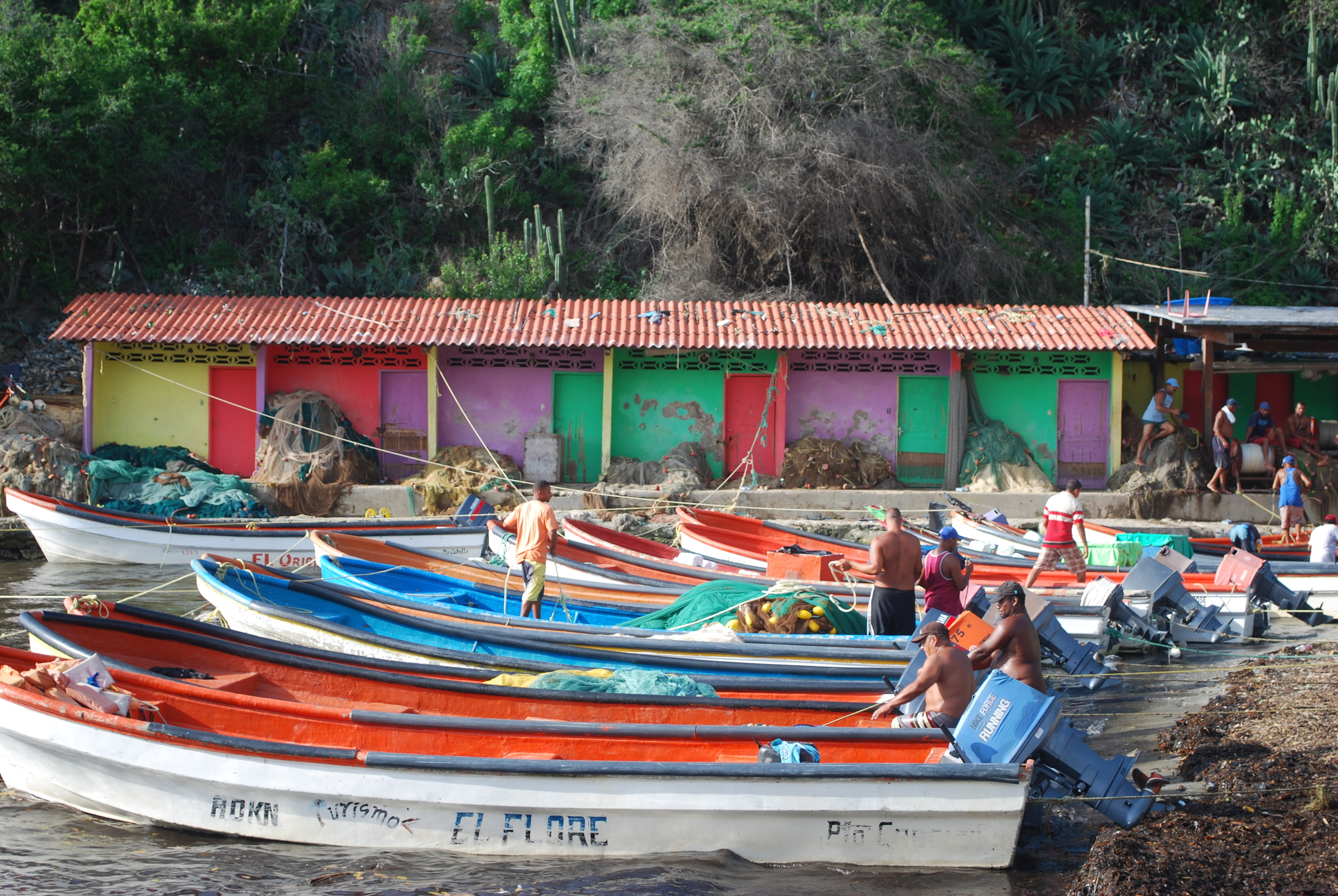 Tourist boats in Mochima National Park, Venezuela, 2010. From  this post .