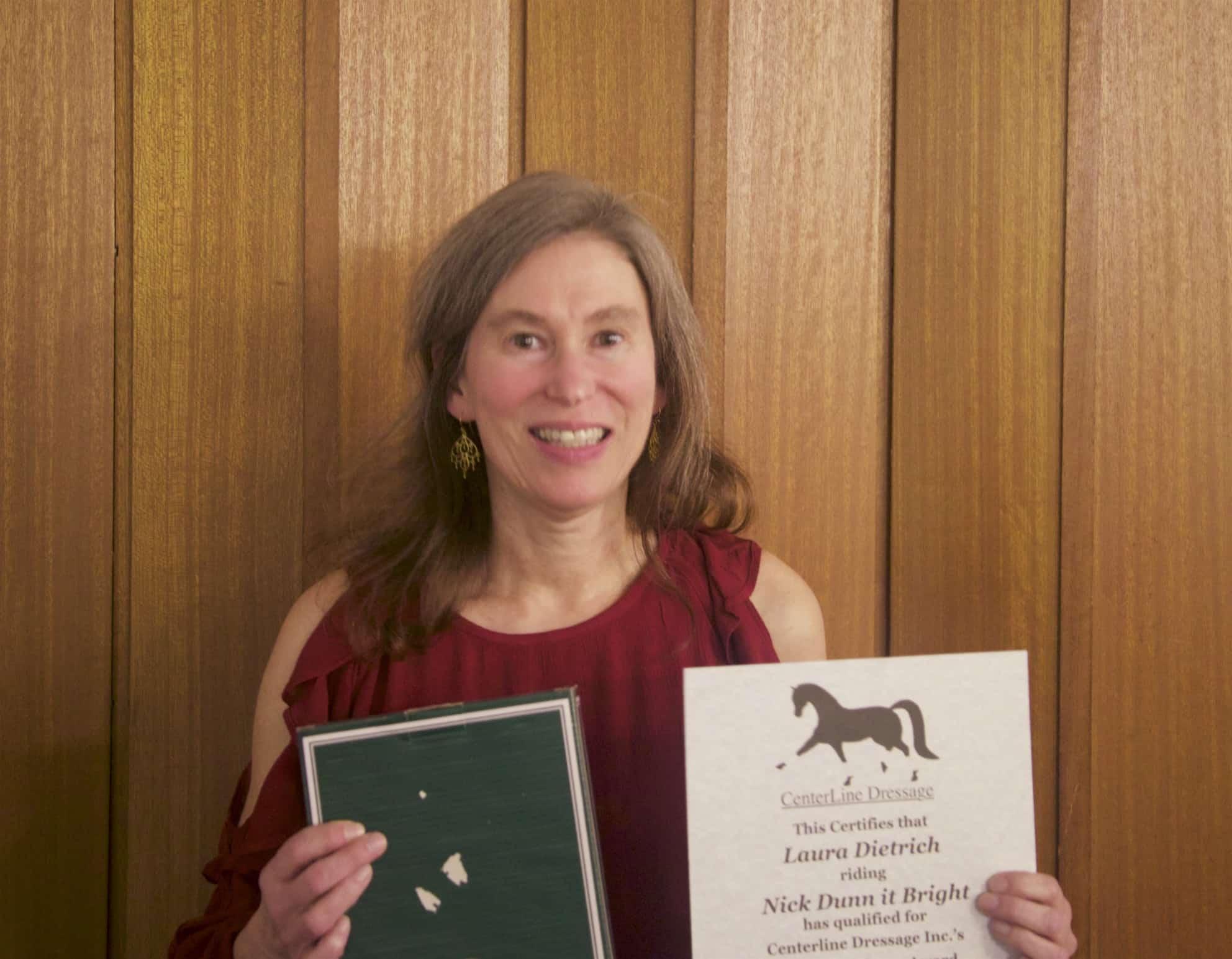 Laura Dietrich, Training Level AA Schooling Champion